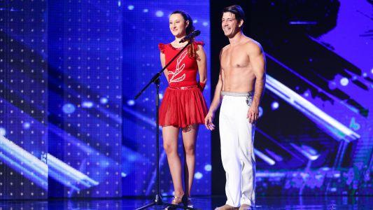 Romanii au Talent 2017: Valentin Iancu si Tatiana Raza - moment la trapez