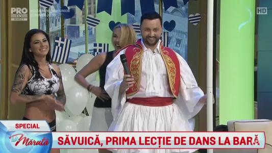 Savuica, prima lectie de dans la bara