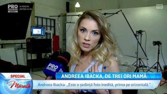 Andreea Ibacka, de trei ori mama