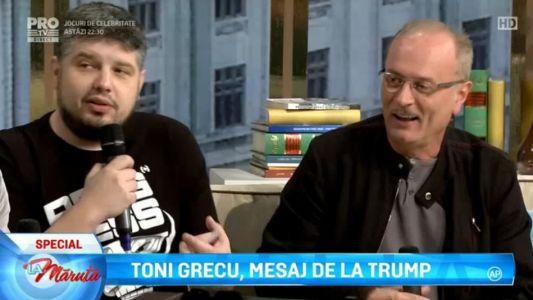 Toni Grecu, mesaj de la Trump