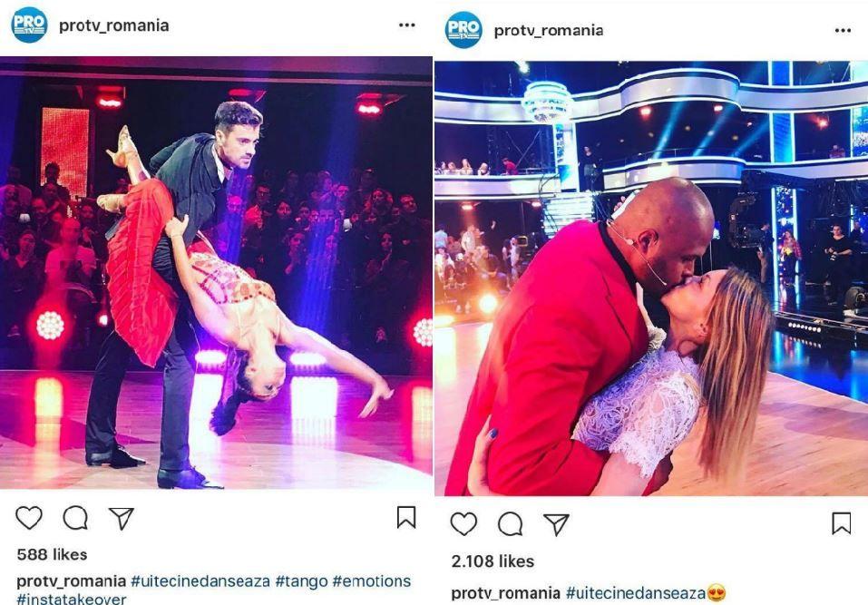 Instagram Takeover! Corina Caragea a luat cu asalt @protv_romania la #uitecinedanseaza. Ce s-a intamplat in culise