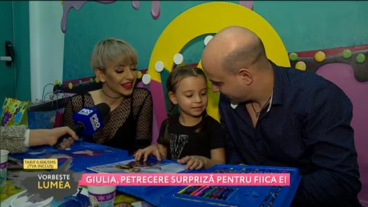 Giulia, petrecere surpriza pentru fiica ei