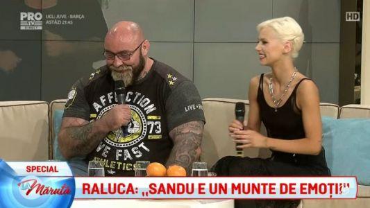 """Raluca: """"Sandu e un munte de emotii"""""""