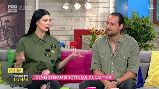 Denis Stefan si sotia lui, pe cai mari
