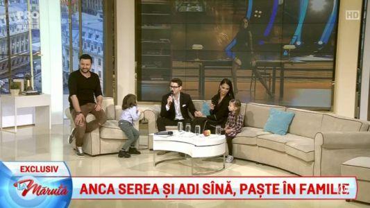 Anca Serea si Adi Sina, Paste in familie