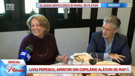 Liviu Popescu, amintiri din copilarie alaturi de mama