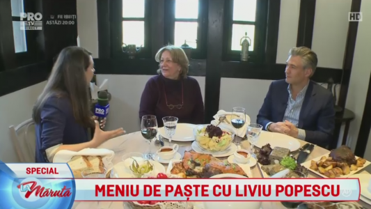 Meniu de Paste cu Liviu Popescu