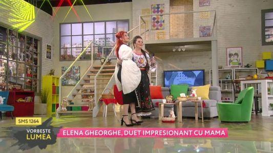 Elena Gheorghe, sarbatori in familie