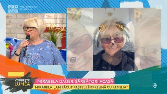 Mirabela Dauer, sarbatori acasa