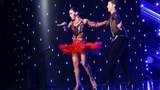 Romanii au Talent 2017: Roxana Dinca si Lucian Boldojan - moment de dans sportiv