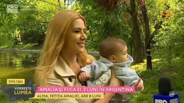 Amalia si fiica ei, 3 luni in Argentina