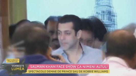 Salman Khan face show ca nimeni altul