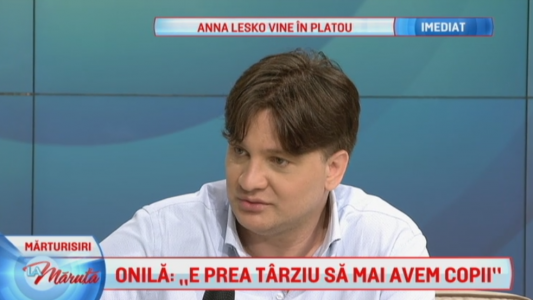 Mihai Onila, marturii despre pierderea fiicei