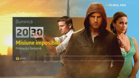 Misiune imposibila: Protocolul fantoma, duminica, 30 aprilie, de la 20:30