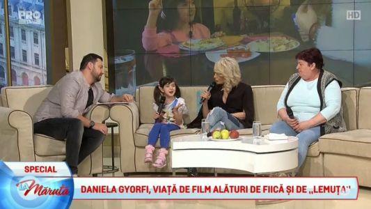Daniela Gyorfi, viata de film alaturi de fiica si de bona
