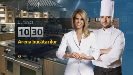 Nu rata o noua editie a emisiunii Arena Bucatarilor. Duminica, de la 10:30, numai pe Pro TV