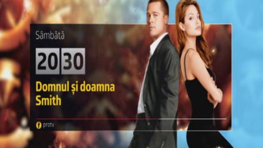 Domnul si Doamna Smith, sambata, 6 mai, de la 20:30, la Pro TV!
