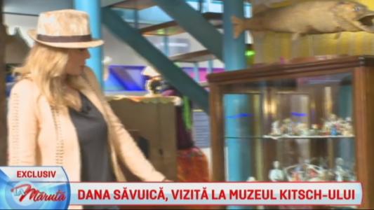 Dana Savuica, in vizita la Muzeul Kitsch-ului