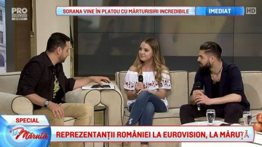 Ilinca si Alex, reprezentantii Romaniei la Eurovision, invitati La Maruta