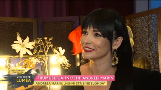 Frumusetea, in ochii Andreei Marin
