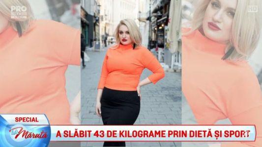 A slabit 43 de kilograme prin dieta si sport
