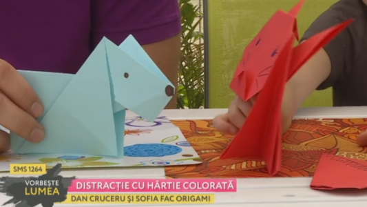 Distractie cu hartie colorata