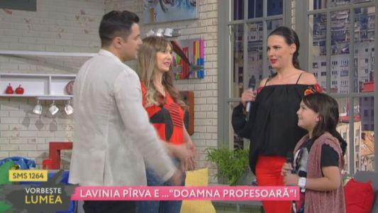 "Lavinia Pirva e ""doamna profesoara"""