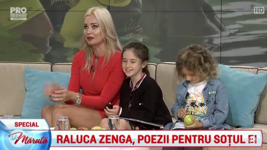 Raluca Zenga, poezii pentru sotul ei