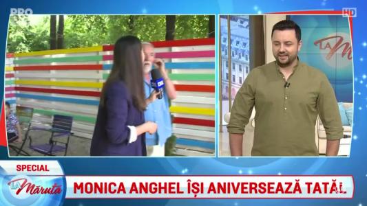Monica Anghel isi aniverseaza tatal