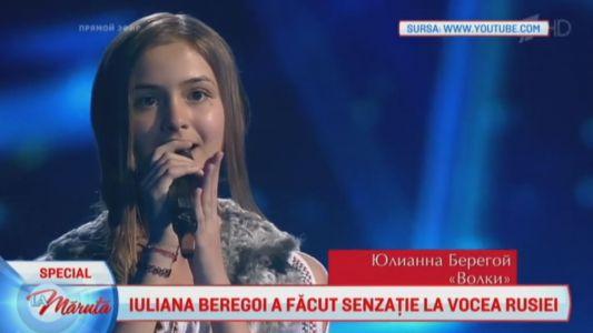 Iuliana Beregoi a facut senzatie la Vocea Rusiei