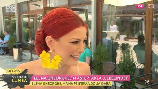 "Elena Gheorghe, in asteptarea ""Bebelindei"""