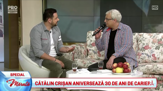Catalin Crisan implineste 30 de ani de cariera