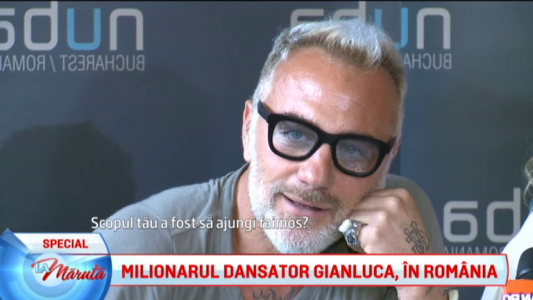 Milionarul dansator Gianluca, in Romania