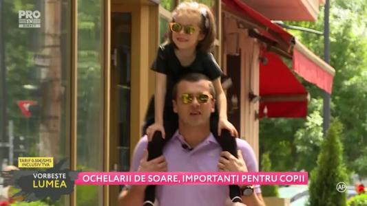 Ochelarii de soare, importanti pentru copii
