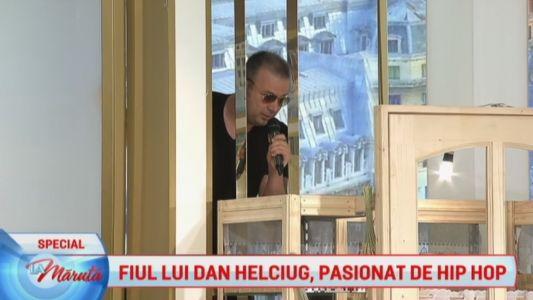 Fiul lui Dan Helciug, pasionat de hip hop