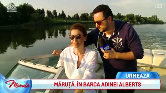 Adina Alberts si Maruta, doi intr-o barca