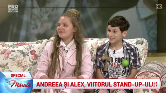 Andreea si Alex, viitorul stand-up-ului