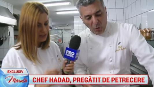 Chef Hadad, pregatit pentru petrecere