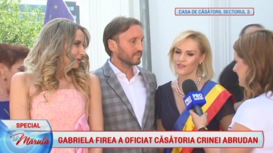 Gabriela Firea a oficiat casatoria Crinei Abrudan