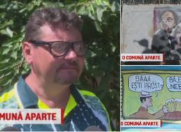 Un pictor dintr-un sat din Galati a ajuns celebru pentru desenele sale. Cum arata o scena copiata din Las Fierbinti