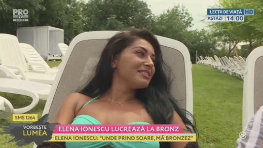 Elena Ionescu lucreaza la bronz