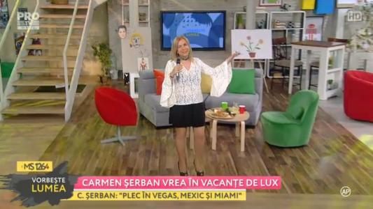 Carmen Serban vrea in vacante de lux