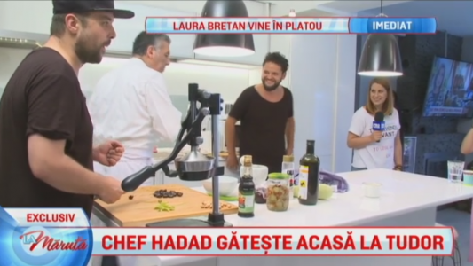 Chef Hadad gateste acasa la Tudor de la Fly Project