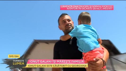 Ionut Galani isi mareste familia