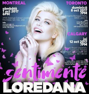Loredana – Turneu Sentimente in Canada. Ce surprize le-a pregatit fanilor ei