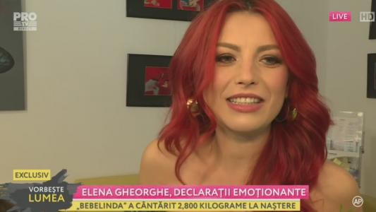 Elena Gheorghe, primele imagini dupa nastere