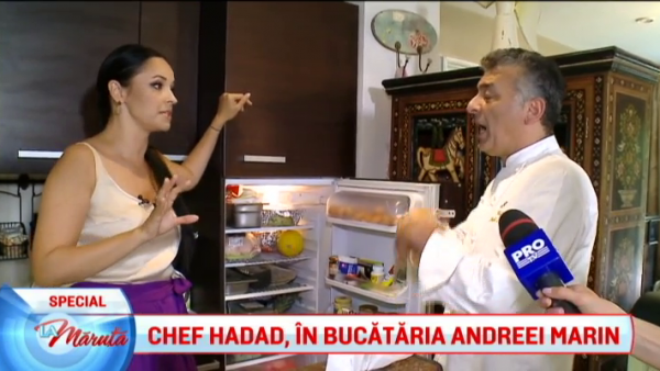Chef Hadad, in bucataria Andreei Marin