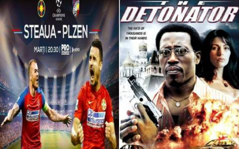 Vara se joaca la ProTV: AZI, de la 20:30 Steaua ndash; Viktoria Plzen, iar de la 22:30, Detonatorul