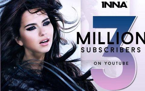 INNA ndash; 3 milioane de abonati pe propriul canal de YouTube