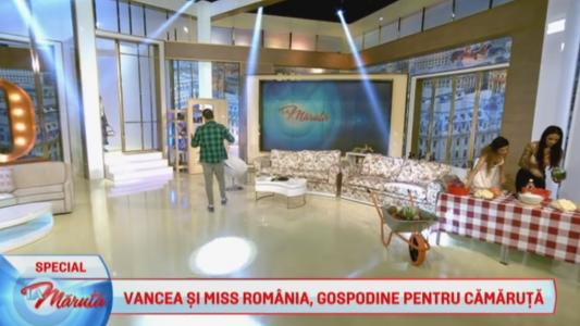Vancea si Miss Romania, gospodine pentru camaruta